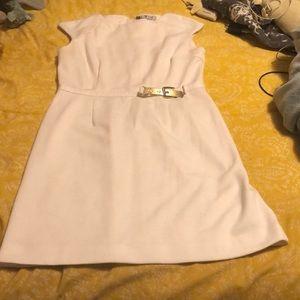 Stylish cream J. Lo dress